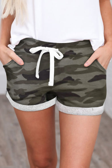 Green Camo Shorts - Party Girl Fashion Exclusives