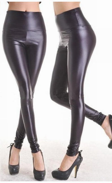 Fashion Black Faux Leather Leggings - Party Girl Fashion Exclusives