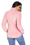 Pink Zipped Pullover Fleece - Party Girl Fashion Exclusives