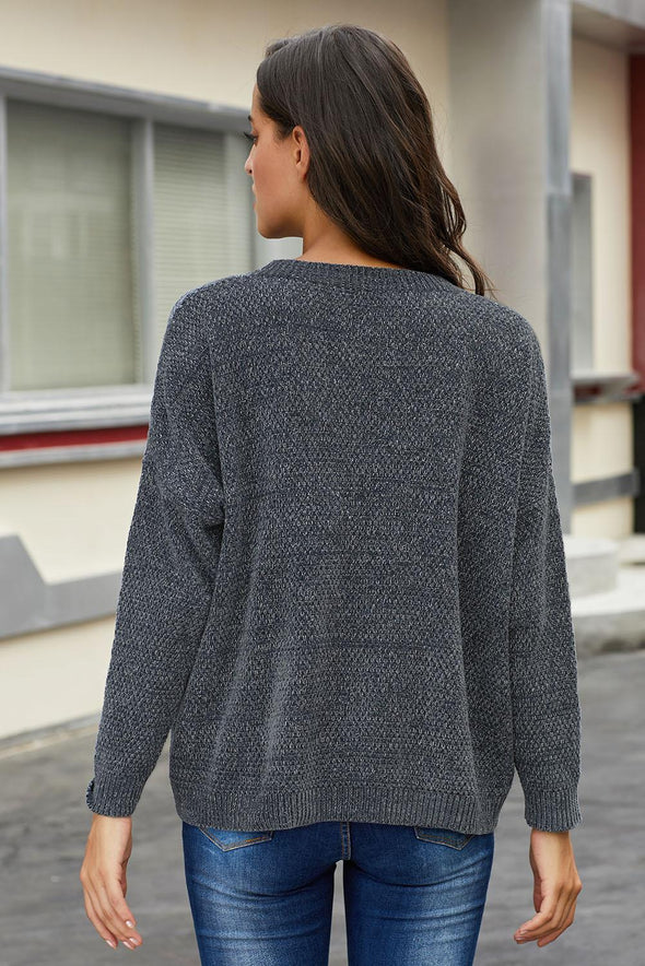Gray Swoon And Snuggles Chenille Shift Sweater - Party Girl Fashion Exclusives