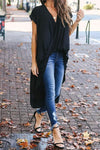 Black Drape High Low Top - Party Girl Fashion Exclusives