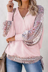 Pink Contrast Thermal Drape Top - Party Girl Fashion Exclusives