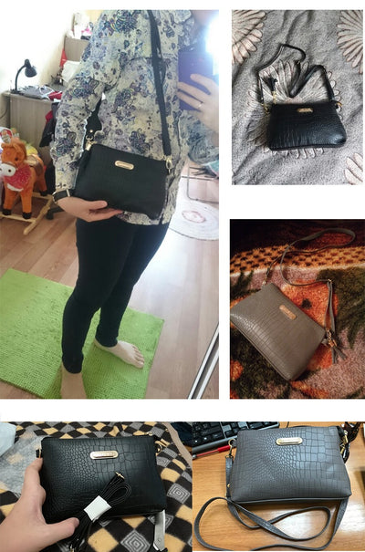 Women leather messenger bags - IAmShopMall
