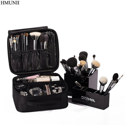 Cosmetic Bags Made with waterproof nylon. For a professional make-up woman. Cosmetic Bag High Quality. - IAmShopMall