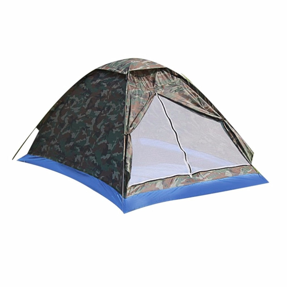 Details about  /Camping Tent for 2 Person Single Layer Outdoor Portable Beach Tent Camouflage