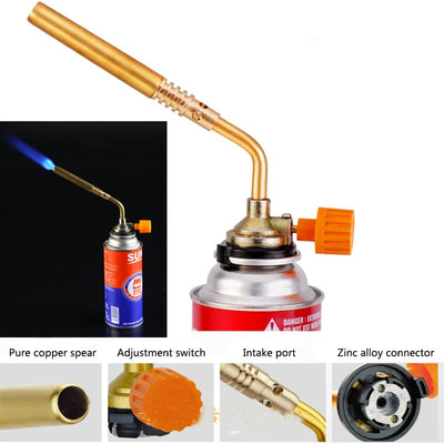 Camping Brazing Gas Torch Lighter Flame Gun for Picnic Outdoor