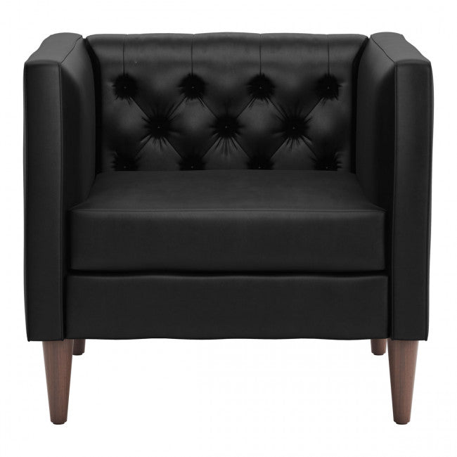 Grant Arm Chair Black Velvet