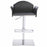 Modrest Emily Modern Black Eco-Leather Bar Stool