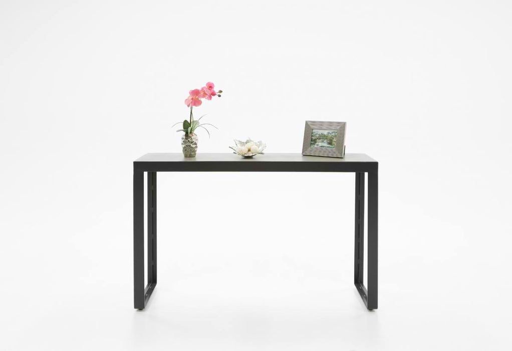 Modrest Kiko Modern Concrete & Black Console Table