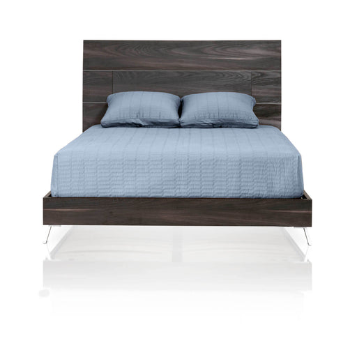 "Bruno Cal King Bed in Matte Smoked Walnut Contemporary California King bed featuring Matte Smoked Walnut frame. Featuring 100% Made In Italy, Smoked Walnut Finish W:75"" D:91"" H:49"" Vivente Collection"