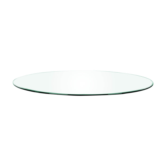 "Clear 60"" Round Dining Table Top in Clear Glass Clear round glass top for dining table. Featuring ,  W:60"" D:60"" H:0.75"" Ritz Collection"