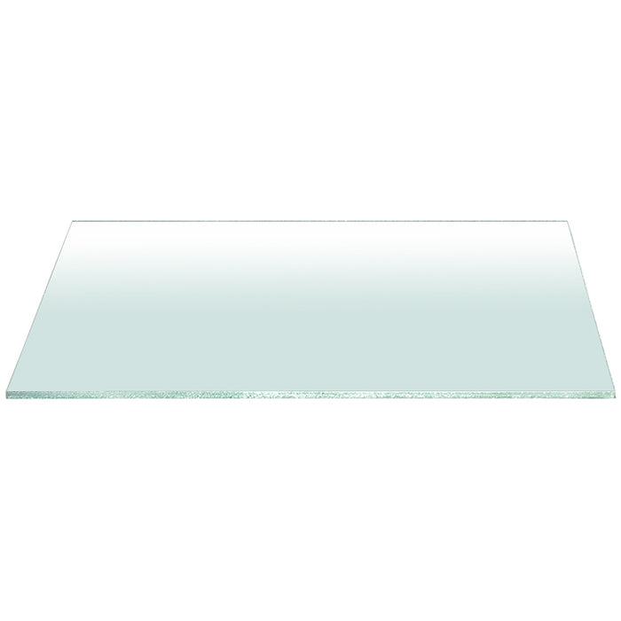 "Clear 75"" x 42"" Rectangle Dining Table Top in Clear Glass Clear rectangle glass top for dining table. Featuring ,  W:75"" D:42"" H:0.75"" Ritz Collection"