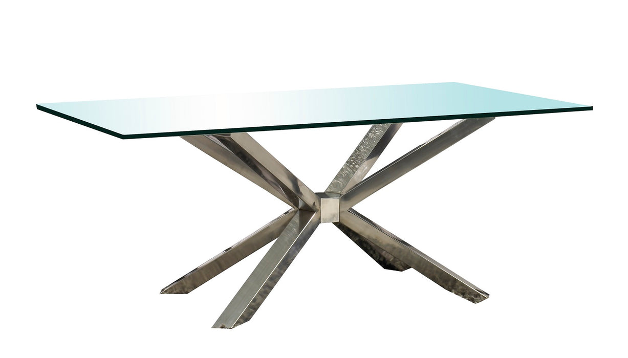 "Clear 75"" x 42"" Rectangle Dining Table Top"