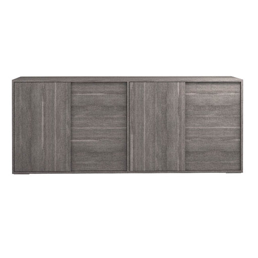 "Forte 4 Door Buffet in Matte Grey Oak Eco Veneer Contemporary buffet featuring Matte Grey Oak finish. Featuring 100% Made In Italy, Coordinating Dining Table, Mirror, Vitrine and Chair W:79"" D:19"" H:33"" Vivente Collection"