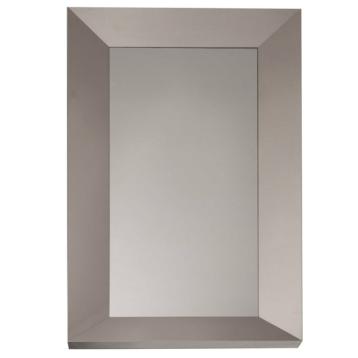 "Glam Wall Mirror in Stainless Steel, Natural Contemporary accent mirror featuring Stainless Steel frame. Featuring ,  W:39.5"" D:2.75"" H:79"" Xena Collection"