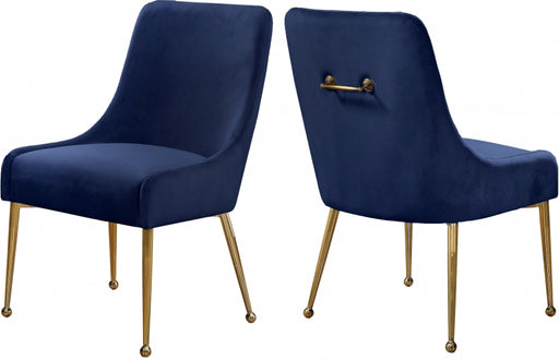 Owen Velvet Dining Chair in Navy (Minimum of two per order)