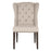 "Maison Dining Chair in Birch Fabric, Espresso | 15/15/18/52 Linen/Cotton/Polyester/Viscose, Solid Birch, Small Brushed Brown Nails Transitional style dining chair featuring button-tufted seat back and individual nail head detail. Featuring Wingback Chair, Button-Tufted Seat Back W:25.5"" D:28"" H:41"" Villa Collection"