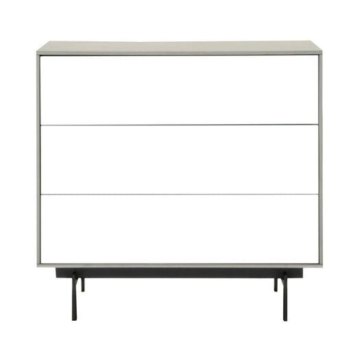 "Symphony 3-Drawer Modular Buffet in Matte Light Grey, White High Gloss, Black Contemporary buffet featuring three push-to-open storage drawers. Featuring Three Push-to-Open Storage Drawers, Build Buffet to Suit Multiple Door and Drawer Units W:31.5"" D:18"" H:30"" Seasons Collection"
