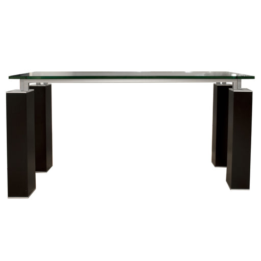 "Tiffany Console Table Base in Dark Walnut | Top Sold Separately Contemporary console table base featuring Dark Walnut finish. Featuring ,  W:59"" D:19.5"" H:30"" Ritz Collection"