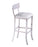 Modrest Tower Modern White Leatherette Bar Stool