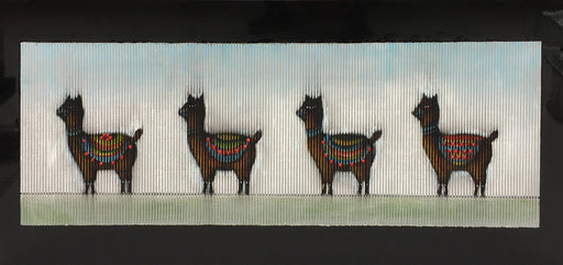 "Modrest 55"" x 28"" Alpaca Oil Painting"