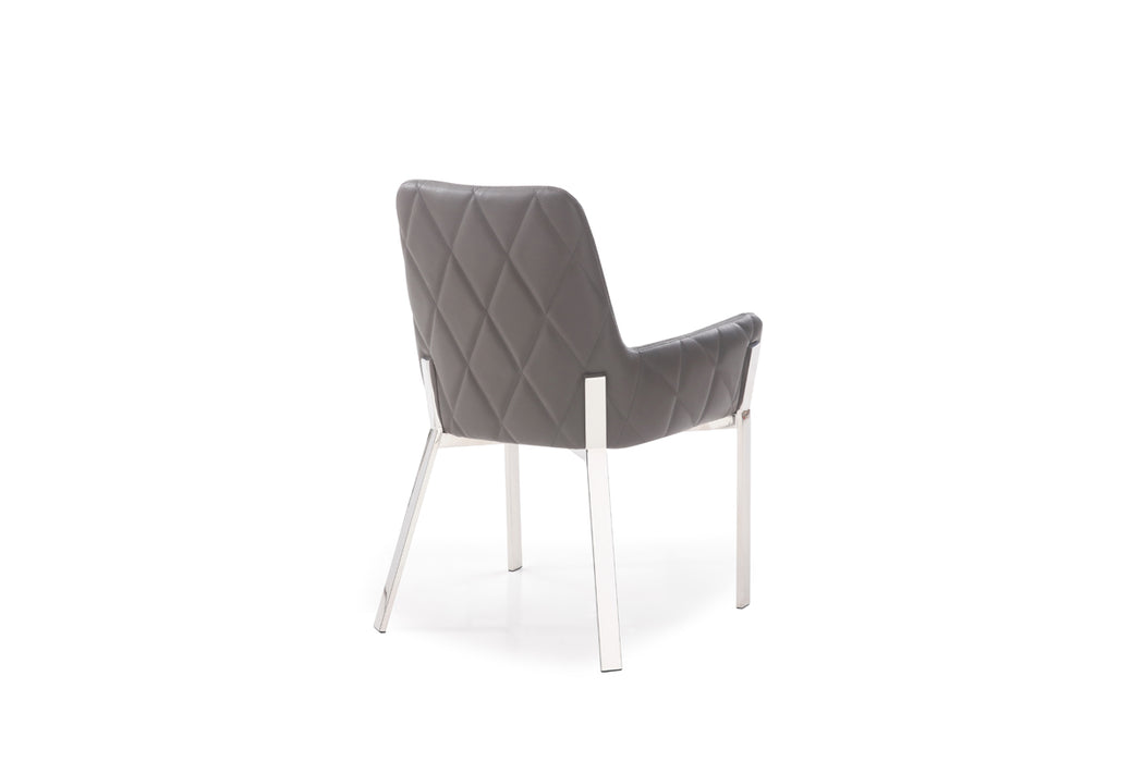 Surprising Modrest Robin Modern Grey Bonded Leather Dining Chair Spiritservingveterans Wood Chair Design Ideas Spiritservingveteransorg