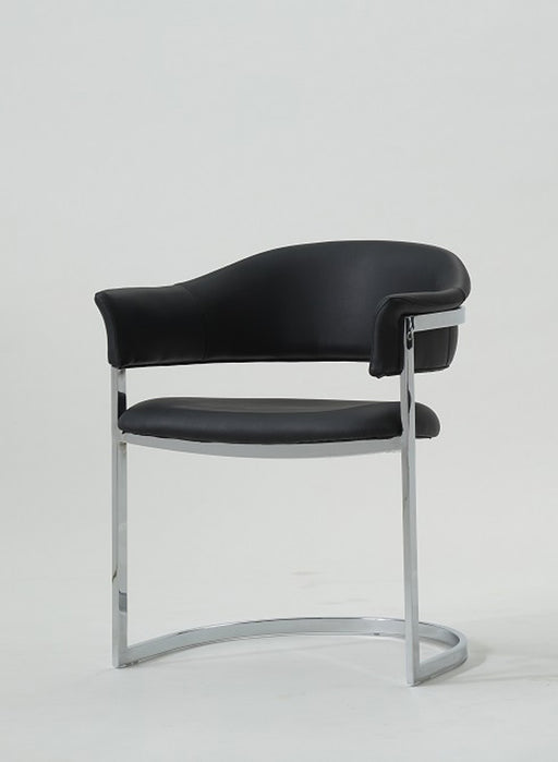 Modrest Allie Contemporary Black Leatherette Dining Chair