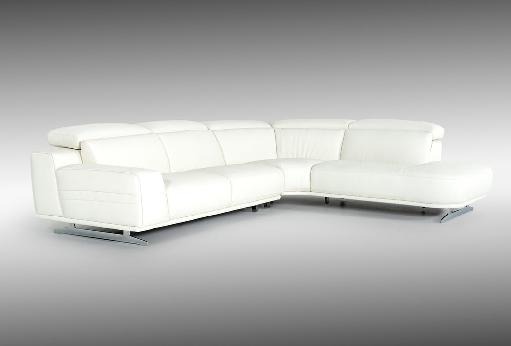 Incredible Divani Casa Benson Modern White Leatherette Sectional Sofa Gmtry Best Dining Table And Chair Ideas Images Gmtryco
