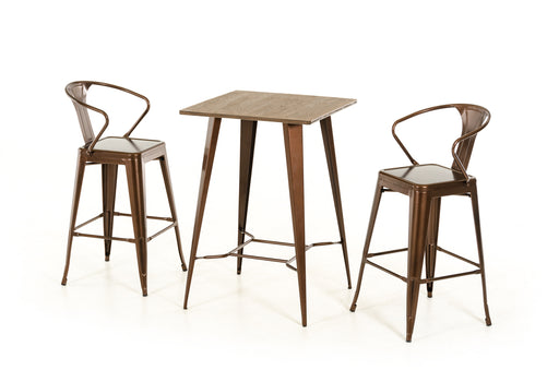 Modrest Benz Modern Copper & Wood Bar Table