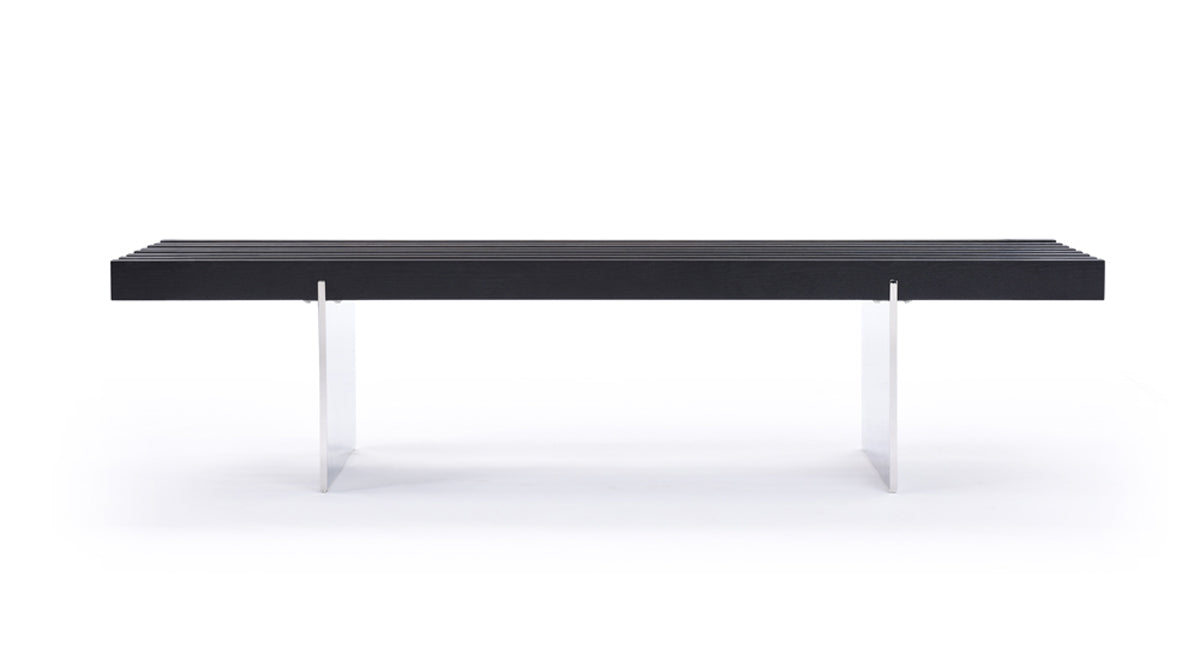 Modrest Oxnard Modern Black Ash Dining Bench