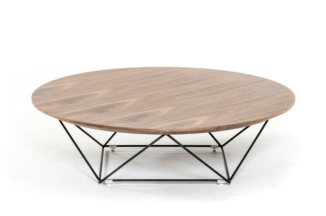 Modrest Spoke Modern Walnut Coffee Table