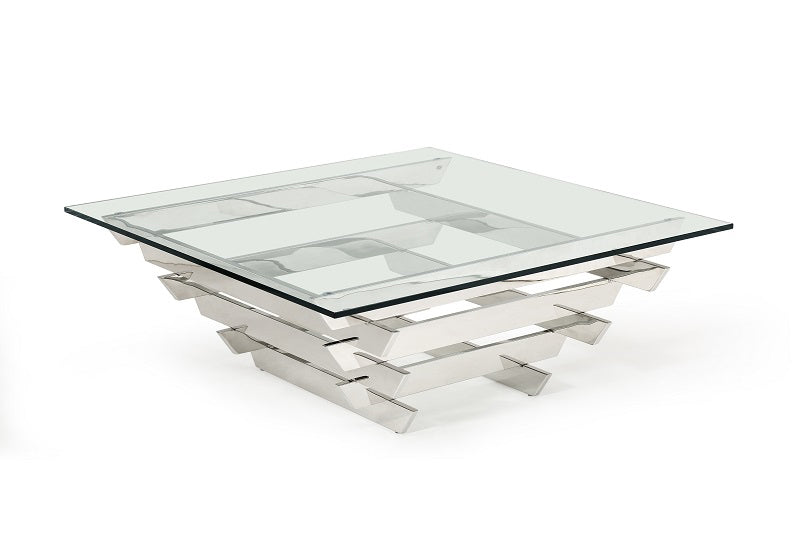 Modrest Upton Modern Square Glass Coffee Table