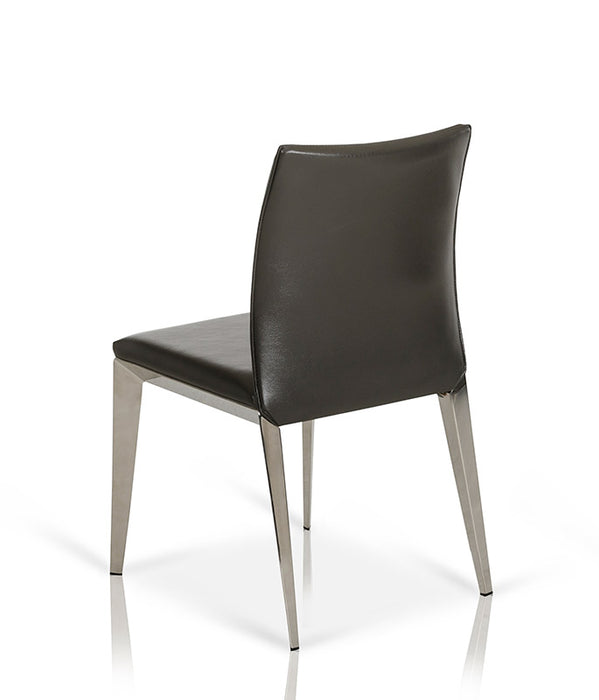 Daytona - Modern Dark Grey Eco-Leather Dining Chair (Set of 2)