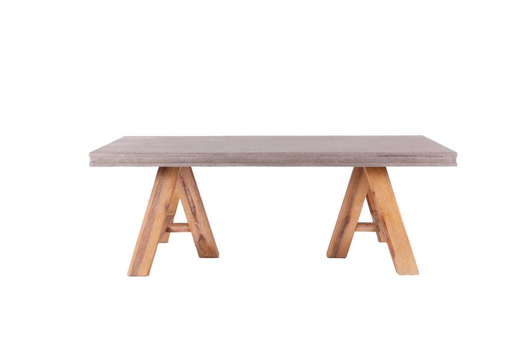 Modrest Civic Modern Concrete & Acacia Coffee Table