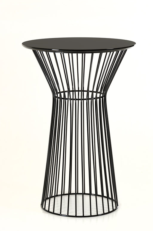 Modrest Graph Modern Black Round Bar Table