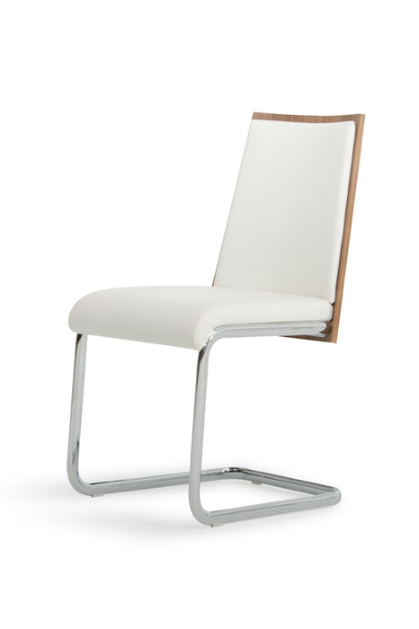 Morgan - Modern White & Walnut Dining Chair (Set of 2)