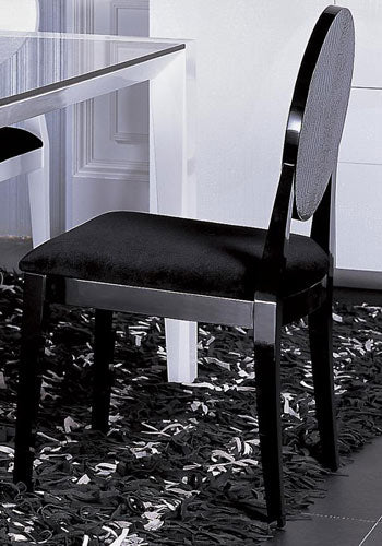 Joss - Modern Black Crocodile Dining Chair (Set of 2)