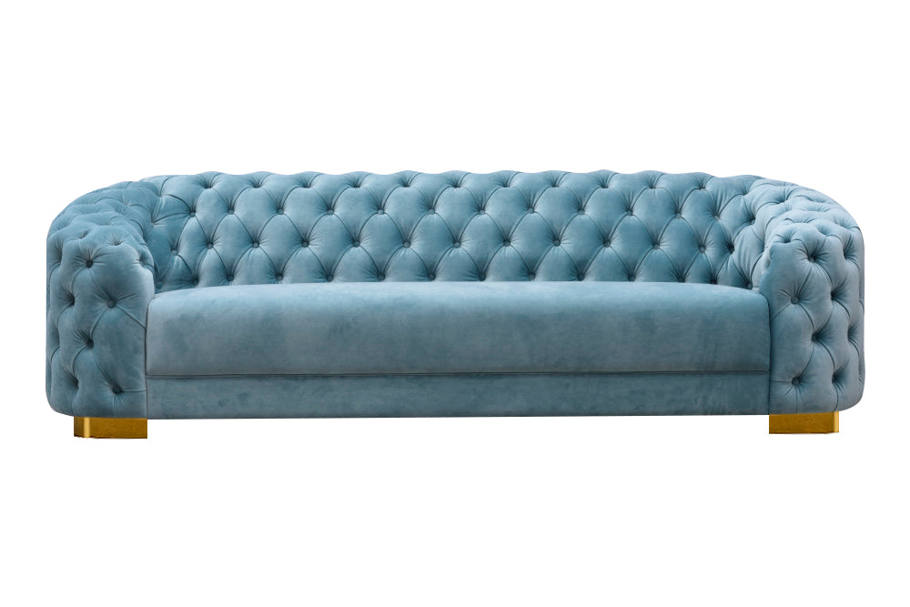 Astounding Divani Casa Voss Modern Blue Velvet Sofa Onthecornerstone Fun Painted Chair Ideas Images Onthecornerstoneorg