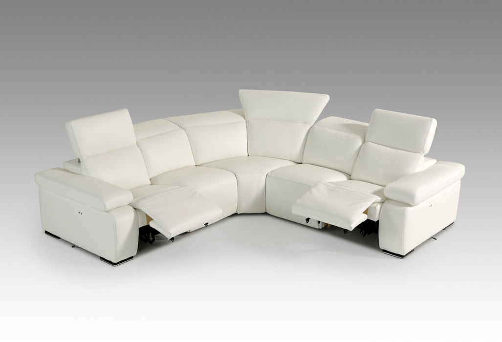 Estro Salotti Hyding Modern White Italian Leather Sectional Sofa