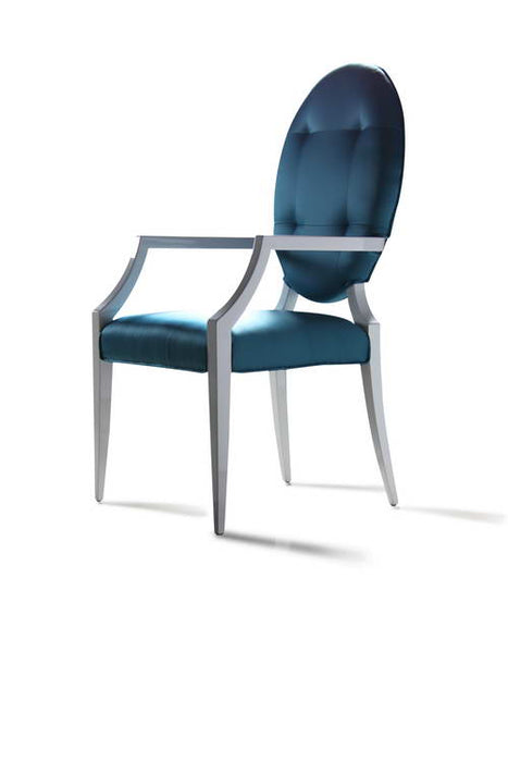Versus - Emma Turquoise Fabric Dining Chair (Set of 2)