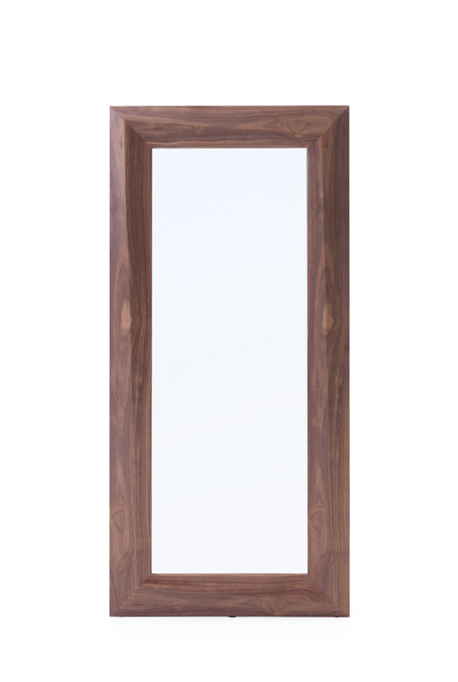 Modrest Calem Modern Walnut Floor Mirror