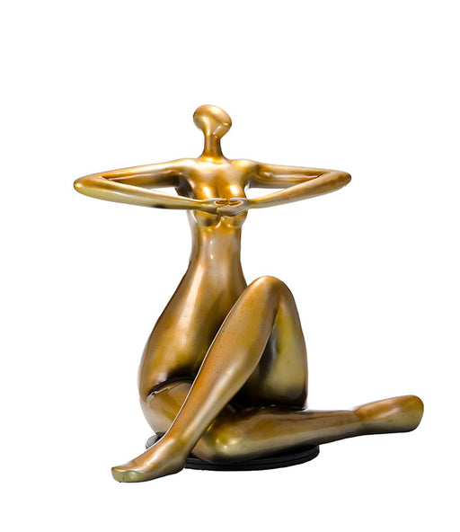 Modrest SZ0395 - Modern Gold Lady Yoga Sculpture