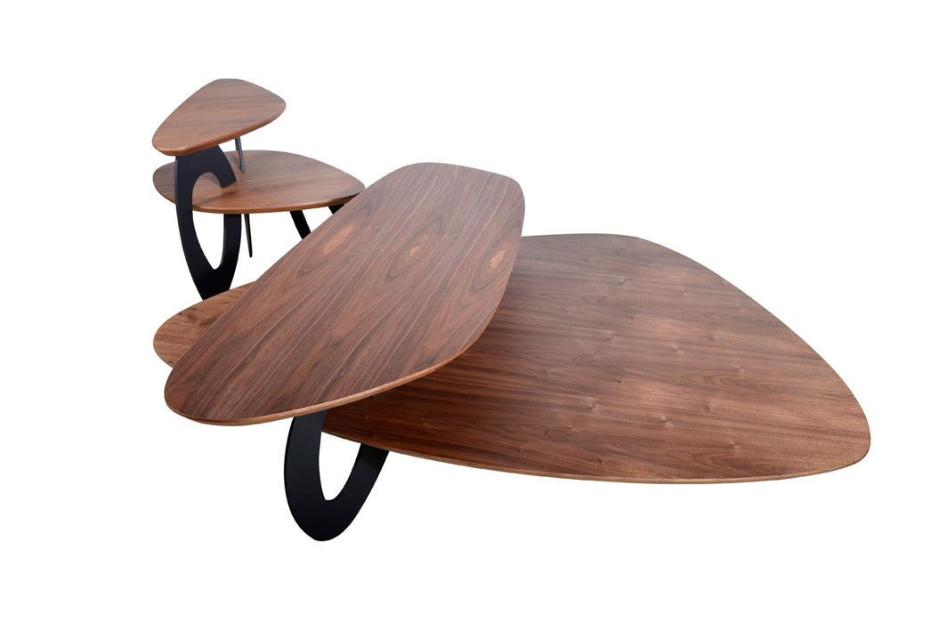 Modrest Sprig Modern Walnut Coffee Table