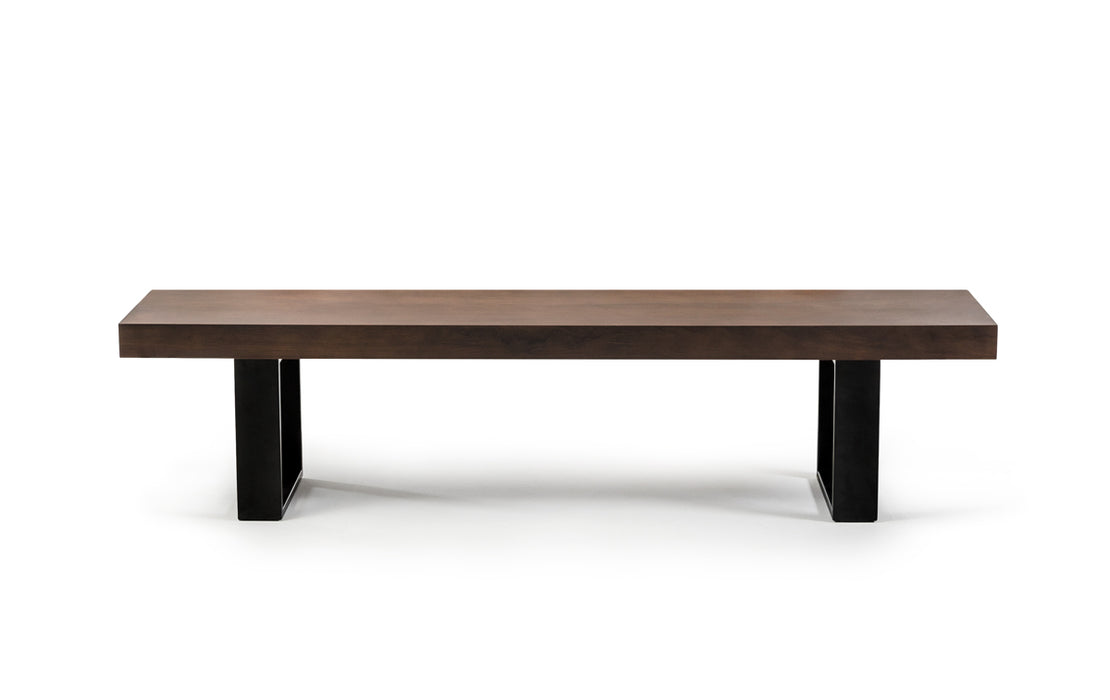 Modrest Lola Modern Walnut Bench