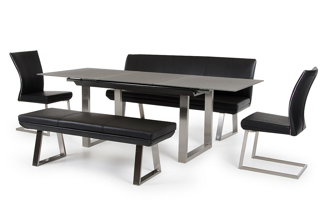 Modrest Magnus Modern Black Dining Bench
