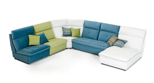 David Ferrari Spritz Italian Modern Leather & Fabric Sectional Sofa