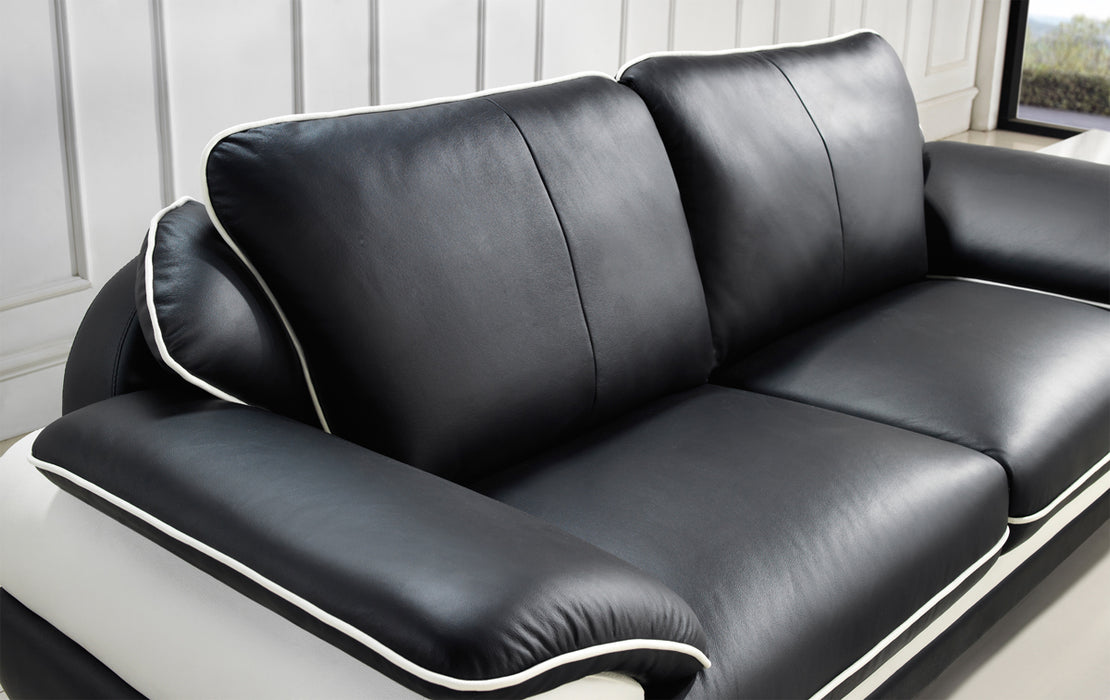 Peachy Divani Casa T777 Modern Black White Bonded Leather Sofa Set Gamerscity Chair Design For Home Gamerscityorg