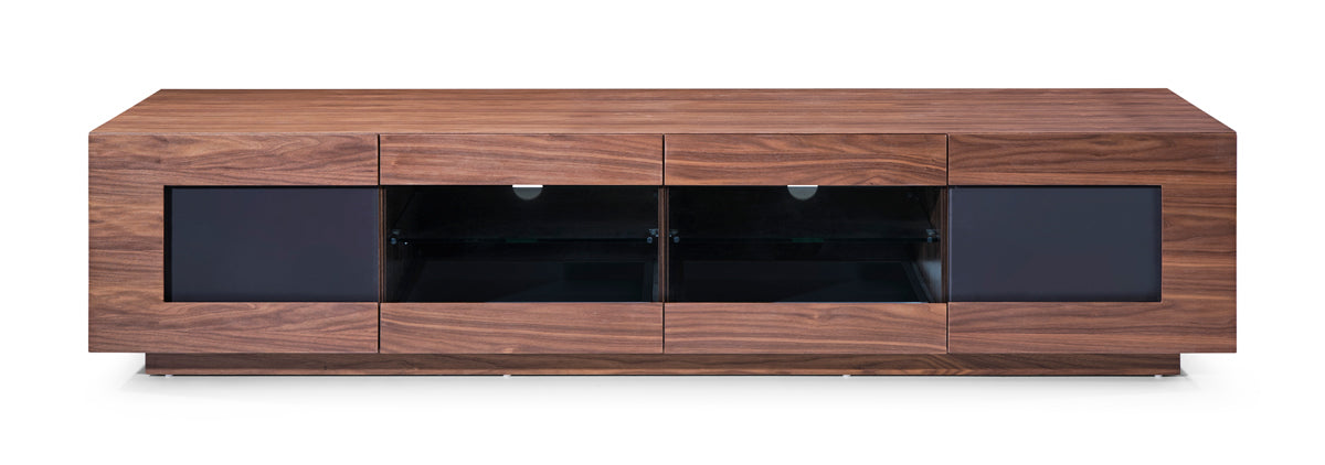 Modrest Frost Modern Small Walnut TV Stand