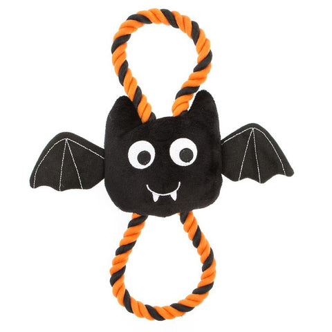 Halloween Rope Bat - Plush, Squeaker