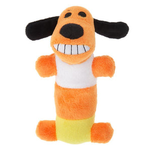 Candy Corn Dog Toy - Plush, Squeaker